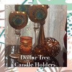 Dollar Tree: Bling DIY Candle Holders Glam Home Decor Elegance For Less With Faithlyn McKenzie 2018