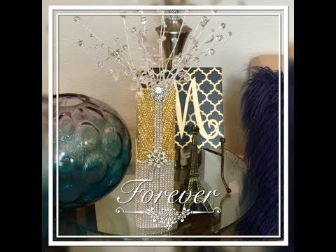 DIY Home Decor 💎 Dollar Tree Glam Bling Out Decor Creating Elegance For Less With Faithlyn 2018