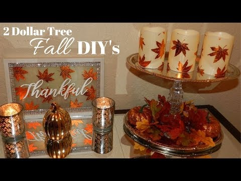 Glam Fall Home Decor DIY's| Dollar Tree DIY Fall Home Decor 2018