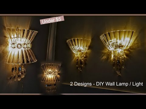 DIY Wall Lamps | Light | Wall Decor | Wall Sconces | Wall Chandelier | w/ Dollar Tree Materials