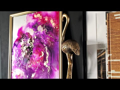 DIY Making Alcohol Ink Art On Glass | My First Time | Home Decor Ideas