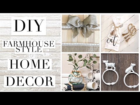 DIY FARMHOUSE STYLE home decor ON A BUDGET | taylor bee