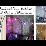 DIY Quick and Easy Floor Lamp Using Oats and Other Home Items|Inexpensive Home Decor Lighting!