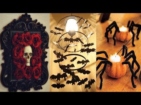 DIY ROOM DECOR! 5 Easy Crafts Ideas at Home for Halloween