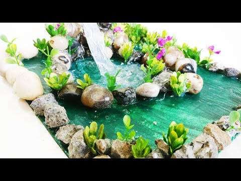 Hot Glue Waterfall Tutorial | Glue Waterfall | DIY Home decoration