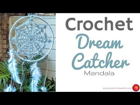 Crochet Dream Catcher Mandala – Dorm Room Decor – DIY Home Decor