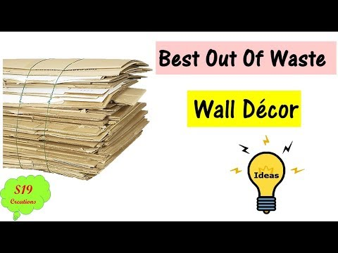 Best out of waste | wall decor | diy arts and crafts | easy Home decor idea | waste material craft