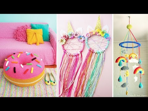DIY Room Decor! 10 Easy Crafts at Home, Diy Ideas for Teenagers (DIY Wall Decor, Pillows, etc.)