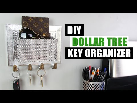 DOLLAR TREE DIY KEY HOOK ORGANIZER | DIY Glam Home Decor