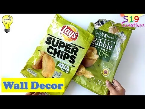 Best out of waste from empty chips packet | diy home decor | best reuse idea | wall hanging