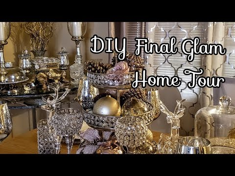 DIY Glam Home Décor 2018 Final Tour| DIY Glamorous Projects| Vlogmas 23