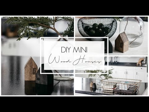 DIY Home Decor: Mini Wooden Houses