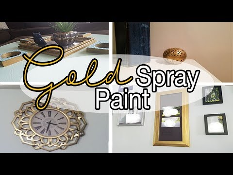 Gold Spray Paint Ideas – Gold Spray Paint DIY – Home Decor
