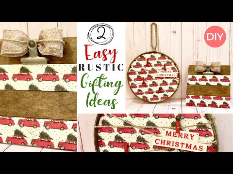 2 Gift Ideas People will LOVE | Easy & Affordable | Rustic Home Decor DIY | Ashleigh Lauren