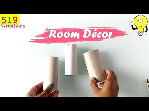Diy home decor idea from tissue roll | best out of waste ideas | waste material decorative crafts