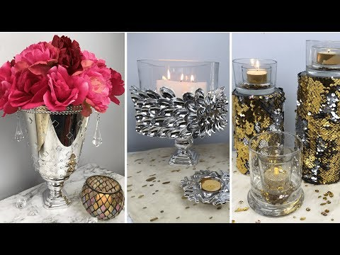 DOLLAR TREE GLAM DIY HOME DECOR | INEXPENSIVE DIY