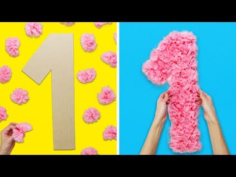 15 STUNNING DIY DECORATIONS FOR A KIDS PARTY