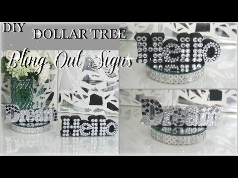 DIY DOLLAR TREE | DIY HOME DECOR IDEAS 2018 | DIY BLING SIGNS | PETALISBLESS
