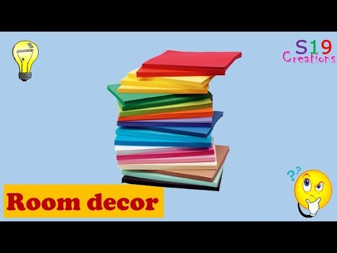 paper craft ideas for Room decoration | Easy diy crafts | Paper flowers making | diy room decor