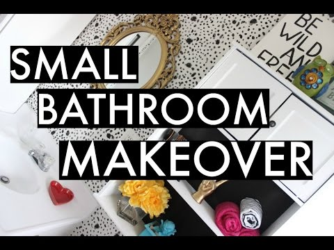 BEST DIY HOME DECOR | DIY SMALL BATHROOM + SMALL BUDGET