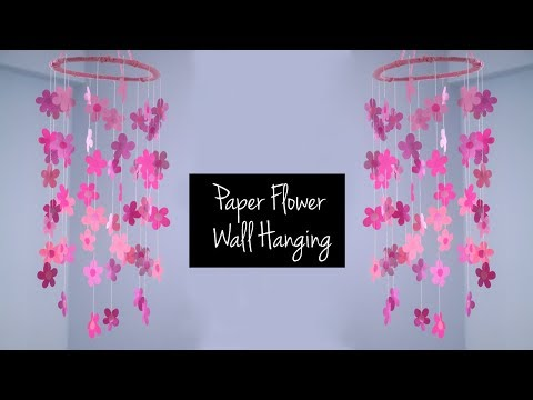 DIY Home Decor | EASY Wall Hanging with Paper Flowers | DIY Craft Ideas with Paper