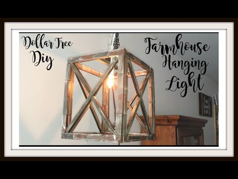 DOLLAR TREE DIY FARMHOUSE HANGING LIGHT | HOME DECOR