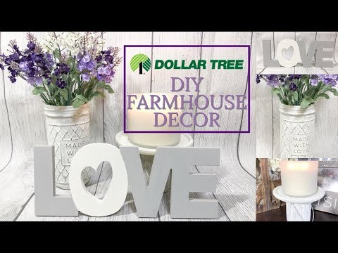 DOLLAR TREE DIY | EASY FARMHOUSE HOME DECOR