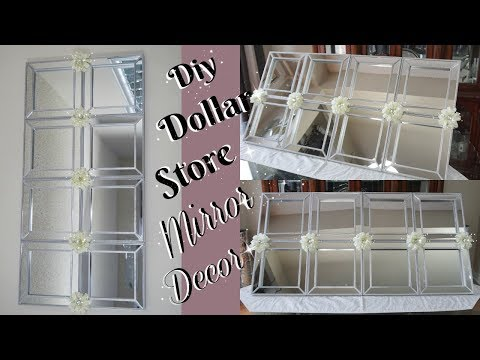 DIY DOLLAR STORE MIRROR DECOR | DIY HOME DECOR IDEAS