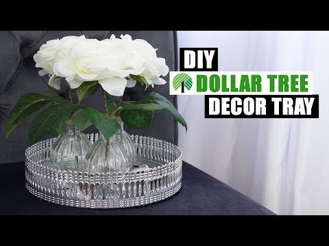 DOLLAR TREE DIY MIRROR DECOR TRAY | DIY Glam Home Decor Idea