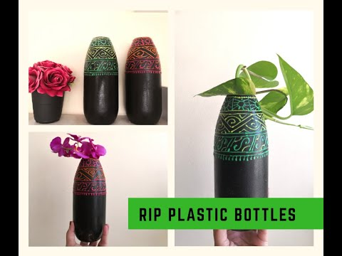 Quick and easy DIY home decor planter using plastic bottles|best out of waste craft for beginners
