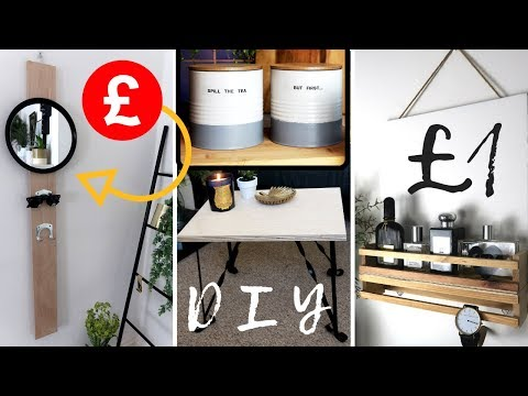 BUDGET DIY MINIMAL HOME DECOR | POUNDLAND DIY HACKS