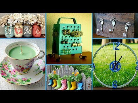 60 Creative ideas to Reuse Old Things – DIY Recycled Home Decor Projects