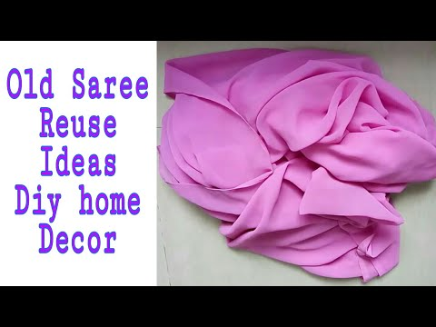 Old Saree reuse idea ll DIY home decor ll Best out of Waste
