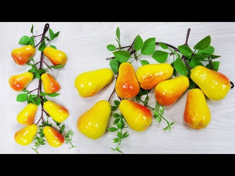 Artificial fruit Pear,Naspate // DIY home decor idea // Best out of waste