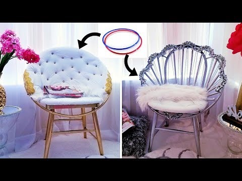 HOW TO MAKE ACCENT CHAIRS WITH HULA HOOPS !!!  2019 HOME DECOR IDEAS!!!