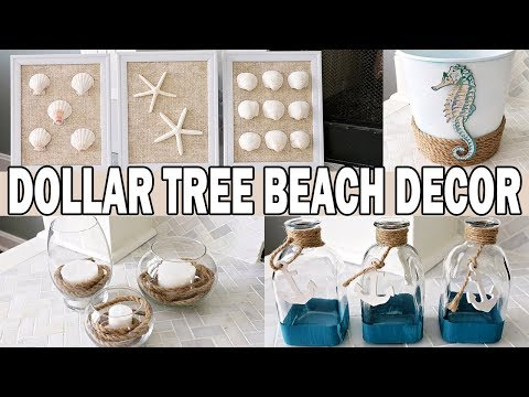 Dollar Tree DIY Coastal Beach Decor  Nautical Decor