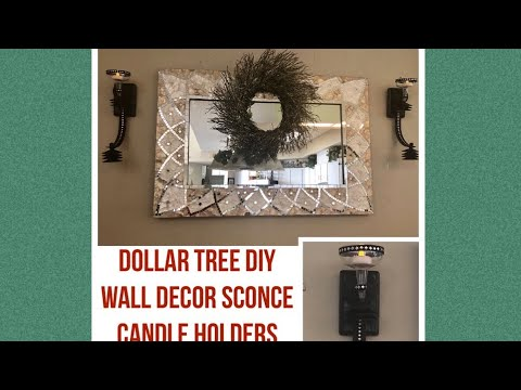 Dollar Tree DIY Wall Decor Sconce Home Decor Candle Holder Creating Elegance For Less With Faithlyn