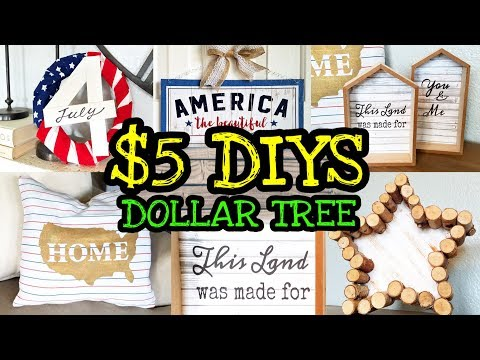 Dollar Tree DIY Summer Home Decor Farmhouse Style