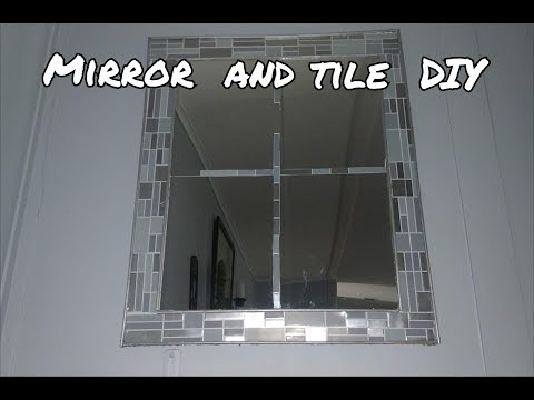 Dollar tree DIY tile and mirror home decor