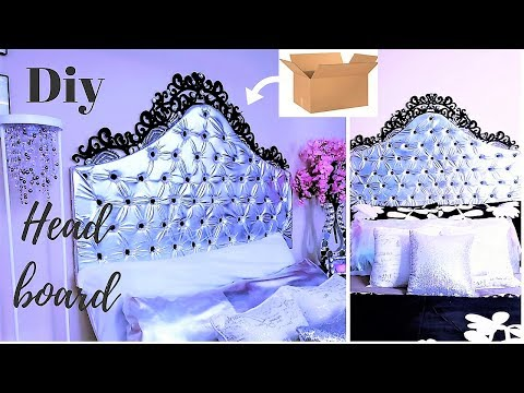 DIY QUICK AND EASY HEADBOARD USING BOXES |INEXPENSIVE ROOM DECORATING IDEA 2019
