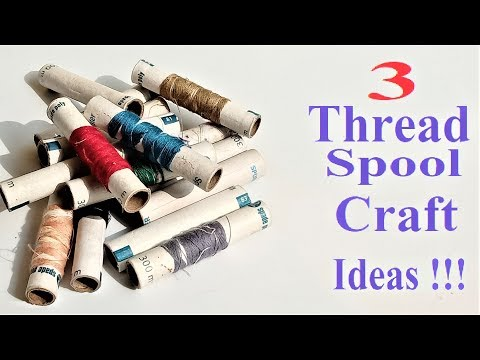 3 Awesome Home Decor Ideas from Thread Spool | DIY Home Decoration