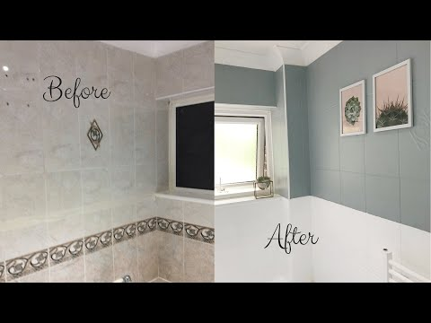 Home Decor 2019| DIY Bathroom Tile Paint| Simple, Easy and Inexpensive