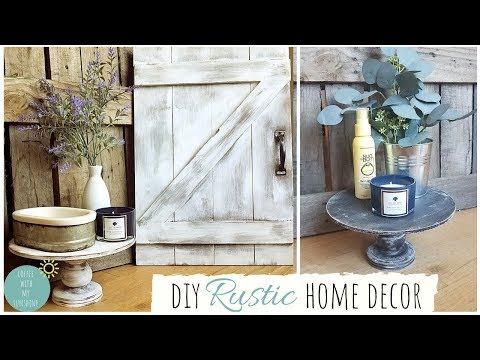 DIY HOME DECOR IDEAS | BARN DOOR | RUSTIC FARMHOUSE | PEDESTAL | TRAY | DECORATING | MICHAELS CRAFTS