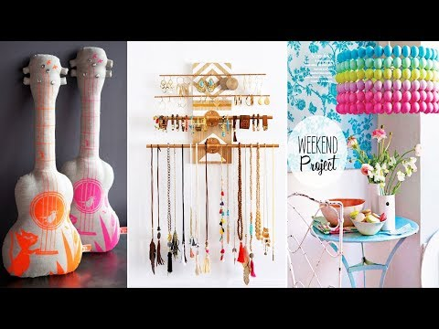 DIY Room Decor! 15 Diy Room Decorating Ideas, DIY Ideas for Teenagers (DIY Wall Decor, Pillows,etc.)