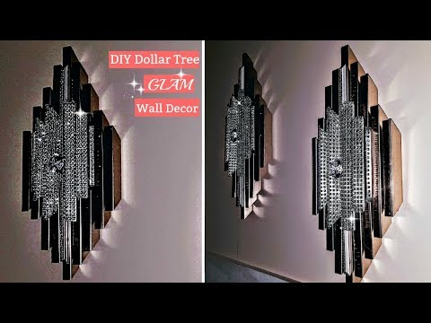 DIY Dollar Tree Glam Wall Decor