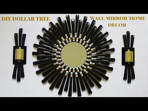 DIY ELEGANT DOLLAR TREE WALL MIRROR/HOME DECOR