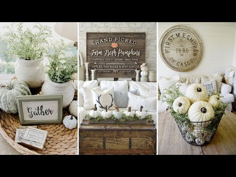 ❤DIY Rustic Farmhouse style Fall coffee table centerpiece Ideas❤ | Fall Home decor| Flamingo Mango