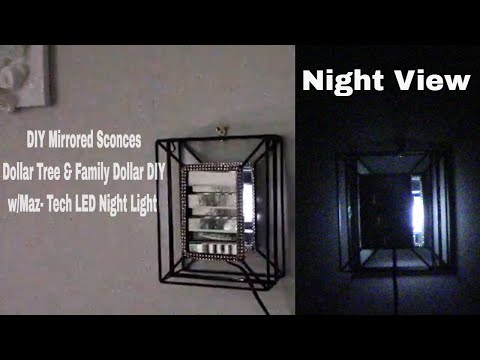 DIY Wall Sconces w/ MAZ-TEK Plug-In Led Lights- Home Decor-Dollar Stores