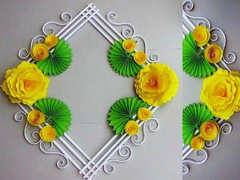 DIY. Simple Home Decor. Wall, Door Decoration. Hanging Flower. цветы из бумаги. Paper Craft Ideas