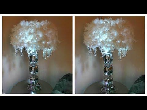 DIY DOLLAR TREE HOME DECOR GLAM BLING LAMP